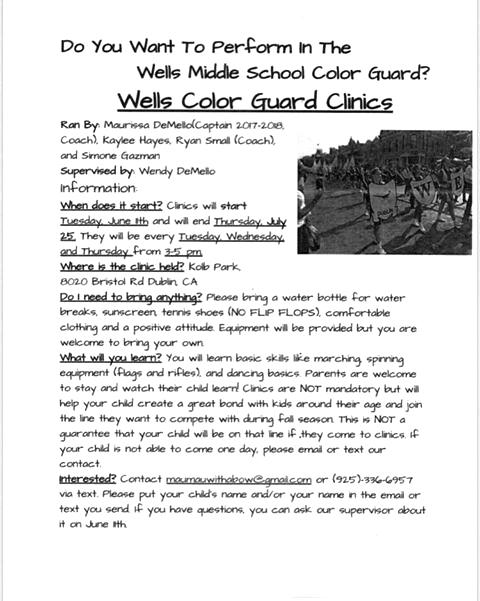 Wells Color Guard Clinic