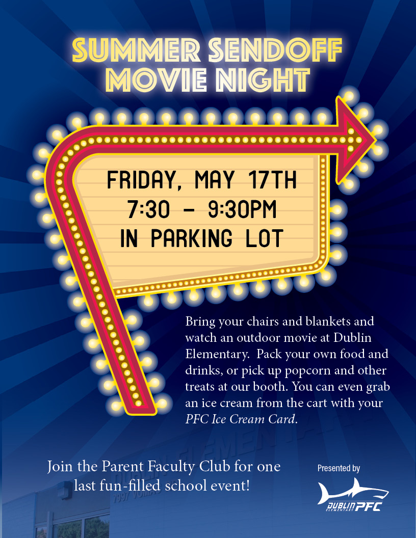 Dublin Elementary Summer Sendoff Movie Night