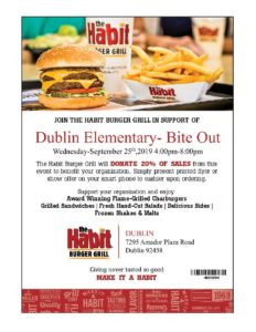 Monthly Bite Out @ The Habit Burger Grill